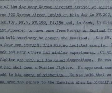 """Piloter på flugt, maj 1945 (Overskudstekst fra """"De uønskede"""", 5)"""