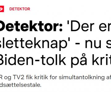 """""""Der er ingen sletteknap"""" - Interview i DR Detektor om simultantolkning"""